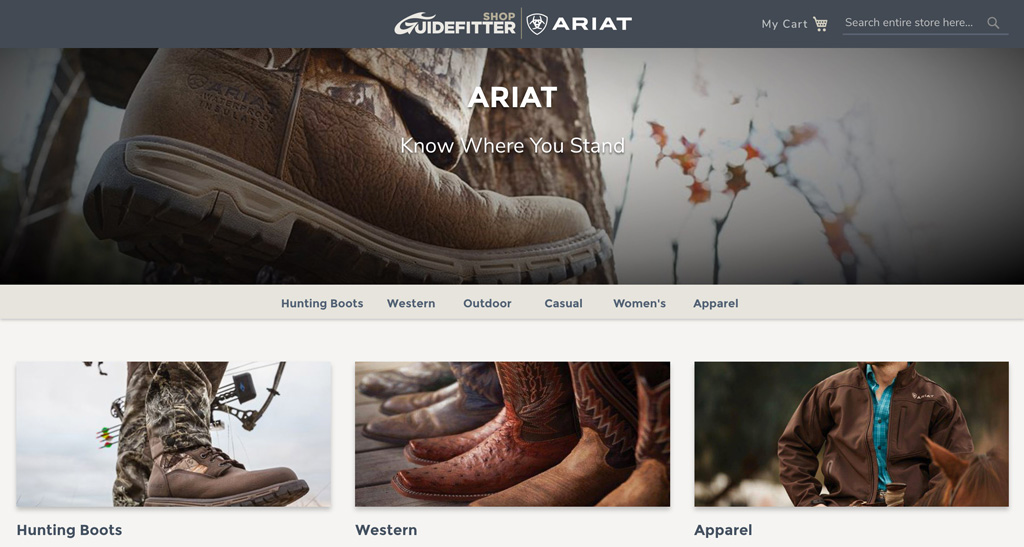 Ariat now on Guidefitter