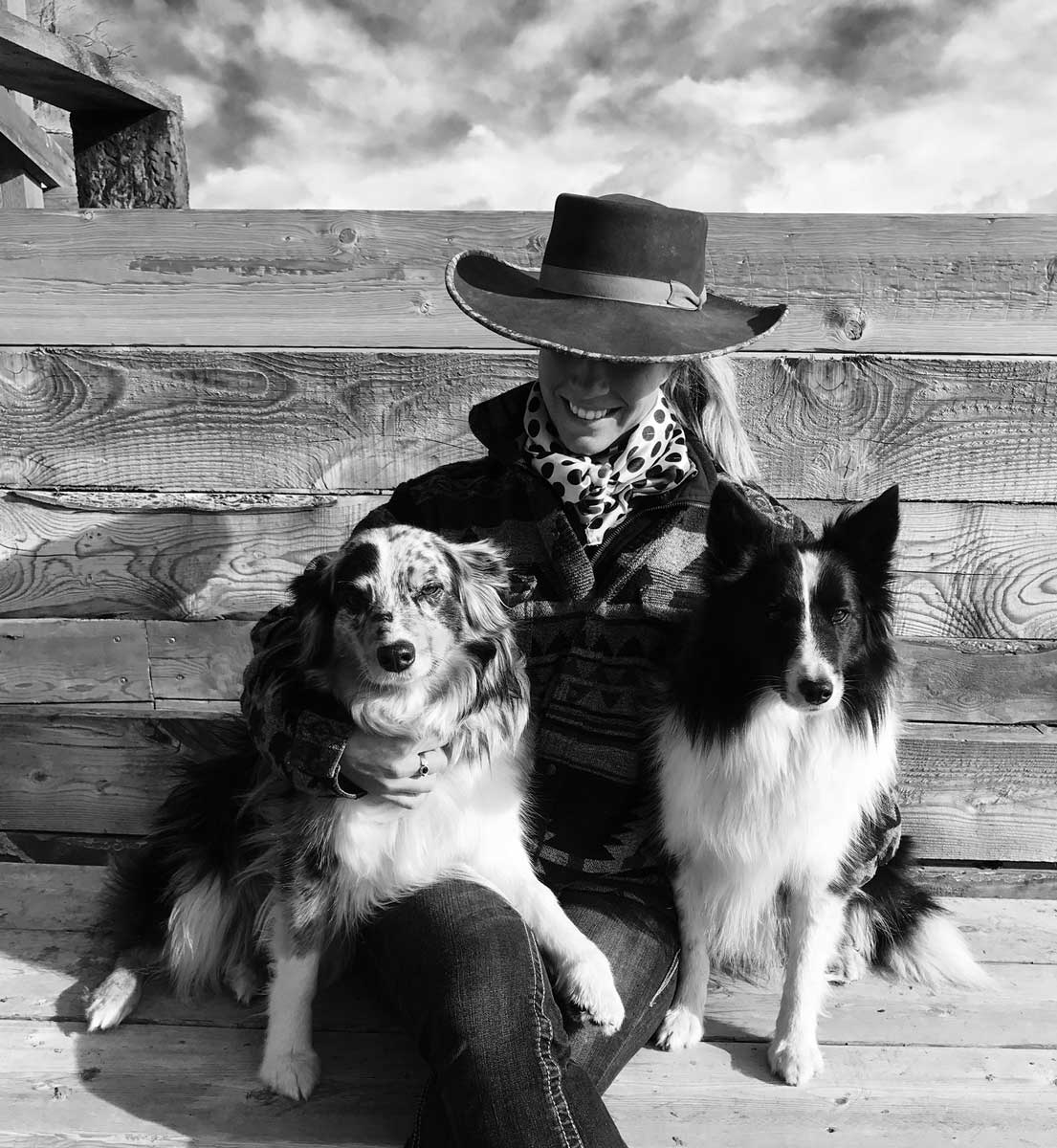 Billie - With her dogs
